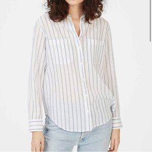 Club Monaco Claudia Striped Button Down Shirt